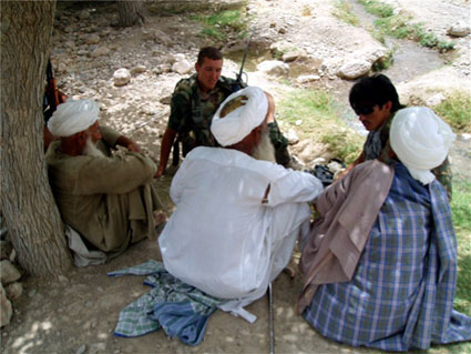 Overleg met dorpsoudsten