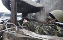 Pistol, Hrushevski street, January 2014