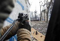 Airsoft 'UZI' machine pistol, Hrushevski street, January 2014